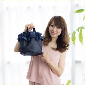 巾着ミニバッグ「フリル」 巾着バッグ サブバッグ お買い物、お出かけに 小さめトートバッグ 手提げカバン 手提げ鞄 kaguya-hime374 06