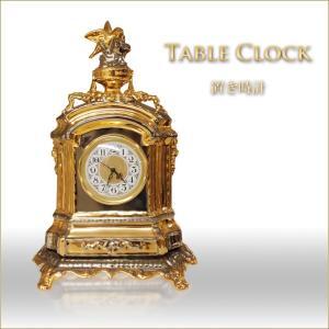 置き時計 イタリア製 ゴールド&シルバー 小鳥のデザインクロック デコラティブな置時計 インテリアオブジェ |kaguya-hime374