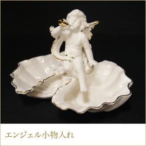 エンジェル小物入れ 天使の置物 インテリアオブジェ ホワイトエンゼル 白色 ゴールド 天使の雑貨|kaguya-hime374