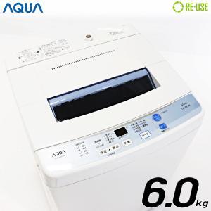 AQUA 全自動洗濯機 縦型 6kg 2016年製 AQW-S60D-W 自動おそうじ 節水 京都在庫 CC1491|kaguya-interior