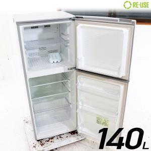 MORITA 冷蔵庫 2ドア 140L ファン式 2015年製 MR-F140D-S 右開き 京都在庫 CG3072|kaguya-interior