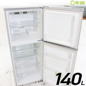 U-ing 冷蔵庫 2ドア 140L ファン式 2015年製 MR-F140D-S 右開き 京都在庫 CG3083|kaguya-interior