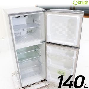 美品 MORITA 冷蔵庫 2ドア 140L ファン式 MR-F140D-S 右開き 京都在庫 CG3106|kaguya-interior