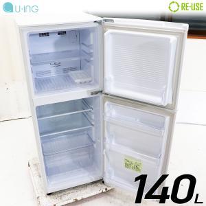 U-ing 冷蔵庫 2ドア 140L ファン式 2016年製 UR-F140J-W 右開き 京都在庫 CG3405|kaguya-interior
