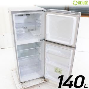 美品 MORITA 冷蔵庫 2ドア 140L ファン式 2015年製 MR-F140D-S 右開き 京都在庫 CG3581|kaguya-interior