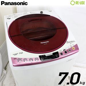 訳あり特価品 Panasonic 全自動洗濯機 縦型 7kg エコウォッシュ NA-FS70H6-P 屋内搬入サービス付 節水 風呂水 京都在庫 CJ4643|kaguya-interior