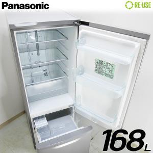 極美品 Panasonic 冷蔵庫 2ドア 168L ファン式 2016年製 NR-B178W-S 屋内搬入サービス付 右開き 静岡在庫 HJ1109|kaguya-interior