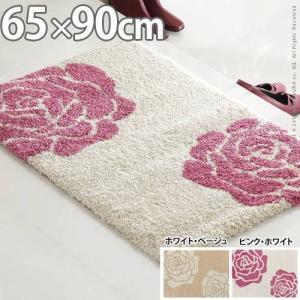 スペイン製 ウィルトン織 マット Rose ローズ 65×90cm 玄関マット ラグ ウィルトン織|kaguya-kaguya