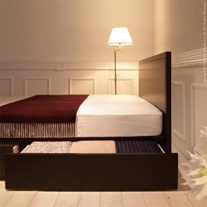 フランスベッド フラットヘッドボードベッド コンラッド シングル 引き出し収納付き ベッドフレームのみ|kaguya-kaguya|03