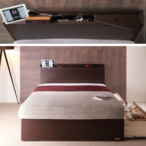 フランスベッド タップ収納 引き出し収納 宮付きベッド デュカス シングル ベッド フレームのみ|kaguya-kaguya|03