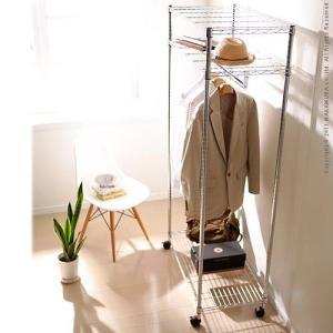 頑丈 スチールハンガー Acier アシエ 幅90cm ハンガーラック 衣類 収納 ワードローブハンガー|kaguya-kaguya