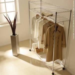 頑丈 スチールハンガー Acier アシエ 幅150cm ハンガーラック 衣類 収納 ワードローブハンガー|kaguya-kaguya