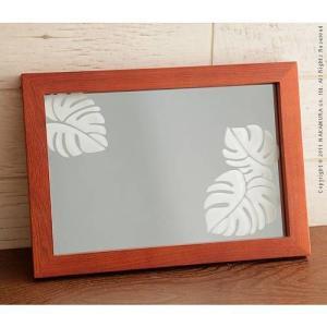 サンドブラスト雑貨 Alani アラニ ウォールミラー ミラー 鏡 卓上|kaguya-kaguya