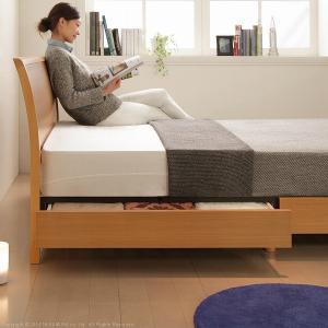 フランスベッド 脚付き すのこベッド マーロウ セミダブル 引き出し収納付き デュラテクノスプリングマットレスセット|kaguya-kaguya|03