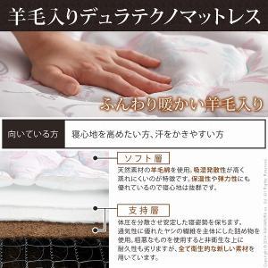 フランスベッド 脚付き すのこベッド マーロウ セミダブル 引き出し収納付き デュラテクノスプリングマットレスセット|kaguya-kaguya|05