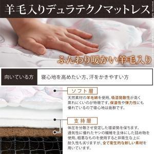 フランスベッド 宮付きベッド ベルモンド セミダブル 引き出し収納付き 照明付き デュラテクノスプリングマットレスセット|kaguya-kaguya|05
