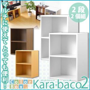 カラーボックスシリーズ kara-baco2 2段 2個セット インテリア リビング収納|kaguya-kaguya