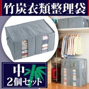 竹炭衣類整理袋 中2個セット|kaguya-kaguya