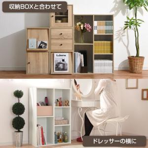 カラーボックス 本棚 ラック 2段 3段 2列 A4 サイズ 横置き 収納 おしゃれ 北欧 幅60 本 おもちゃ コミック 大容量 子供 書棚 木製 多目的ラック|kaguya|12
