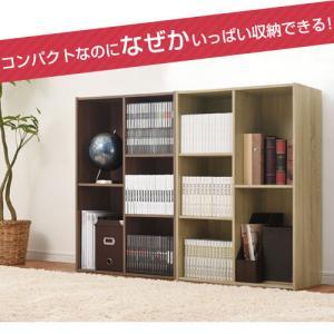 カラーボックス 本棚 ラック 2段 3段 2列 A4 サイズ 横置き 収納 おしゃれ 北欧 幅60 本 おもちゃ コミック 大容量 子供 書棚 木製 多目的ラック|kaguya|05