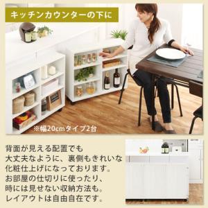 本棚 チェスト 押入れ収納 キャスター付き 木製 隙間 すきまラック CD DVD ラック 隙間収納 ボックス|kaguya|13