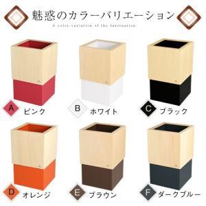 【ポイント10倍】 日本製 木製 ゴミ箱 ごみ箱 ダストボックス おしゃれ スリム 木製 木 20cm 洗面所 ピンク 白 レジ袋 見えない|kaguya|02