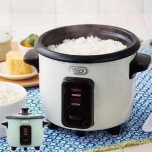 ミニライスクッカー 0.5〜1.5合 小さい 簡単操作 保温 電気炊飯器 1合用炊飯器 1人用 おしゃれ 可愛いの画像