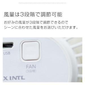 クリップファン 扇風機 小型扇風機 モバイルバッテリー USB クリップ 卓上 車 充電式 LED 手動 首振り 360 回転 おしゃれ kaguya 08