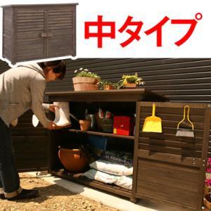 木製物置 物置き 屋外 屋外収納庫 おしゃれ ベランダ DIY 工具入れ エクステリア ガーデン ガーデニング 庭 人気 可動棚 安定感|kaguya