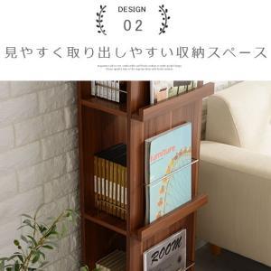 雑誌 本棚 収納 インテリア マガジンラック マガジンスタンド オープン おしゃれ 木製 スリム kaguya 11