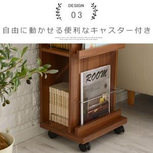 雑誌 本棚 収納 インテリア マガジンラック マガジンスタンド オープン おしゃれ 木製 スリム kaguya 14