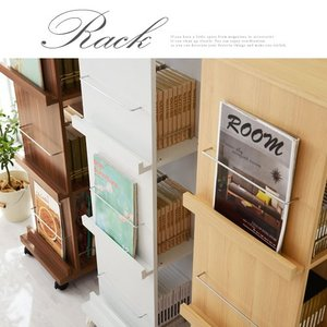 雑誌 本棚 収納 インテリア マガジンラック マガジンスタンド オープン おしゃれ 木製 スリム kaguya 19