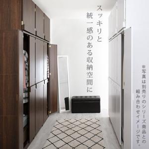 フリーラック 上置き 整理 扉付き 収納棚 タンス ロッカー 木製ラック 壁面収納 つっぱり棚 スリム おしゃれ|kaguya|17