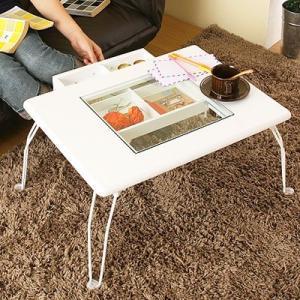 ガラスコレクションローテーブル 机|kaguya