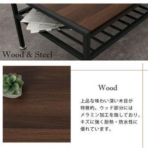 リビングテーブル ソファテーブル ロー デスク ノートPCデスク 机 幅90 木製 kaguya 07