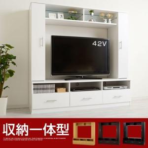 壁面収納 テレビ台 ローボード 家具 TV台 サイズ 大きい おしゃれ インチ 扉付き 引き出し 引戸 ガラス棚 収納 コンセント穴 複合 CD DVDの写真