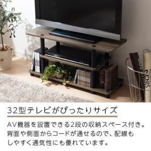 テレビ台 おしゃれ テレビボード TV台 TVボード ローボード 収納 ロータイプ マルチラック ディスプレイラック 木製 32インチ対応 幅80cm|kaguya|02
