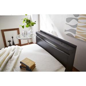 ベッドフレーム センベラ / シェララフィア プラハ ウッドスプリング仕様 (シングルサイズ, ダークブラウン色)|kaguyasan|05