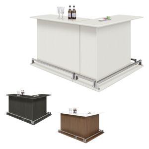 バーカウンターテーブル キッチンカウンターテーブル 受付カウンター 下収納 L字 2点セット おしゃれ 大川家具 アウトレット セール|kaguyatai