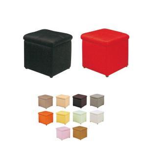 スツール 収納ボックス ボックススツール おもちゃ箱 オットマン 足置き台 フタ付き レザー|kaguyatai