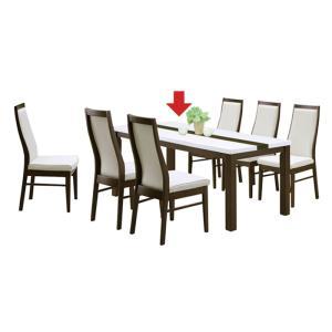 幅180cm ダイニングテーブル 食卓テーブル 6人用 6人掛け 木製 長方形 ホワイト 白 ブラウン エナメル塗装 光沢感 北欧 モダン おしゃれ シンプル|kaguyatai