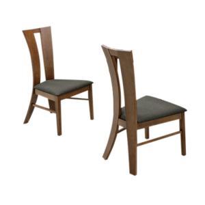 2脚セット ダイニングチェア ダイニングチェアー 完成品 肘なし 北欧 モダン おしゃれ ブラウン ファブリック 布地/2脚 食卓椅子 チェア 椅子 イス いす 肘無|kaguyatai