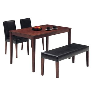 ダイニングテーブルセット ベンチ ウォールナット 4人掛け 天然木 長方形 幅120cm 北欧 レトロ風 木製 激安セール アウトレット価格 家具 通販|kaguyatai