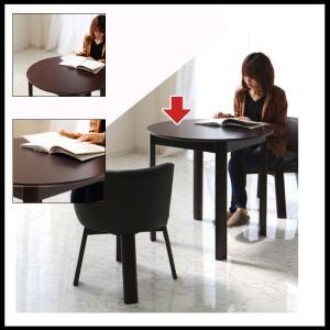 ダイニングテーブル カフェテーブル 丸テーブル コンパクト 一人暮らし 2人用 幅80cm ブラウン 単品 アウトレット 好きに|kaguyatai|02