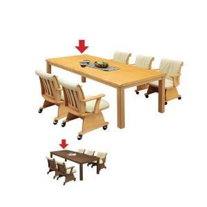 ダイニングこたつテーブル こたつダイニングテーブル ハイタイプ 長方形 195 アウトレット 好きに|kaguyatai