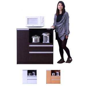 レンジ台 キッチンカウンター キッチンボード 食器棚 下収納棚 ロータイプ 幅90cm おしゃれ 完成品 アウトレット セール|kaguyatai