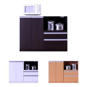 キッチンカウンター キッチンボード レンジ台 食器棚 下収納棚 ロータイプ 幅120cm おしゃれ 完成品 アウトレット セールの写真