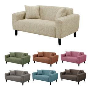2人掛け ソファ ソファー 2人掛けソファー 二人掛けソファー 2人用ソファー 二人用ソファー 完成品 ファブリック シンプル ベージュ ダークグレー グリーン|kaguyatai