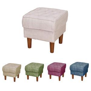 1人掛け スツール オットマン 椅子 チェア 一人掛け 1人用 1人掛けスツール 完成品 ファブリック シンプル アイボリー ベージュ グリーン ピンク ブルー|kaguyatai