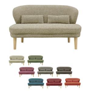 2人掛け ソファ ソファー 2人掛けソファー 二人掛けソファー 2人用ソファー 二人用ソファー 完成品 ファブリック おしゃれ かわいい シンプル アイボリー|kaguyatai